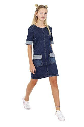 Damen Mini Jeans Kleid