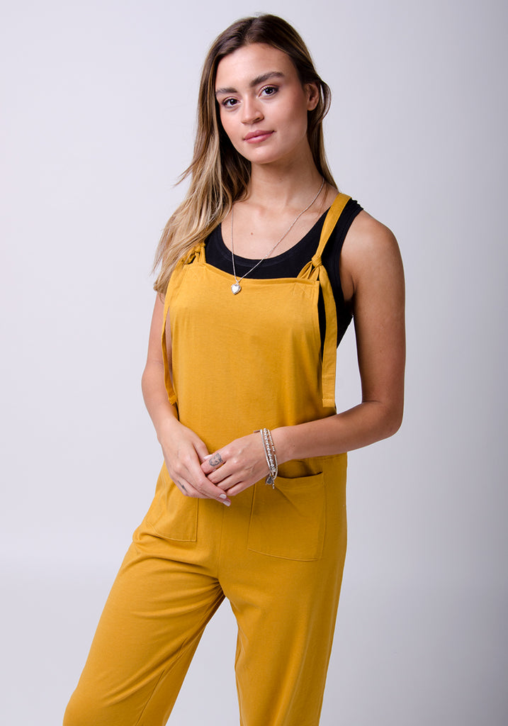 Mabel Jersey Jumpsuit für Damen - Gold