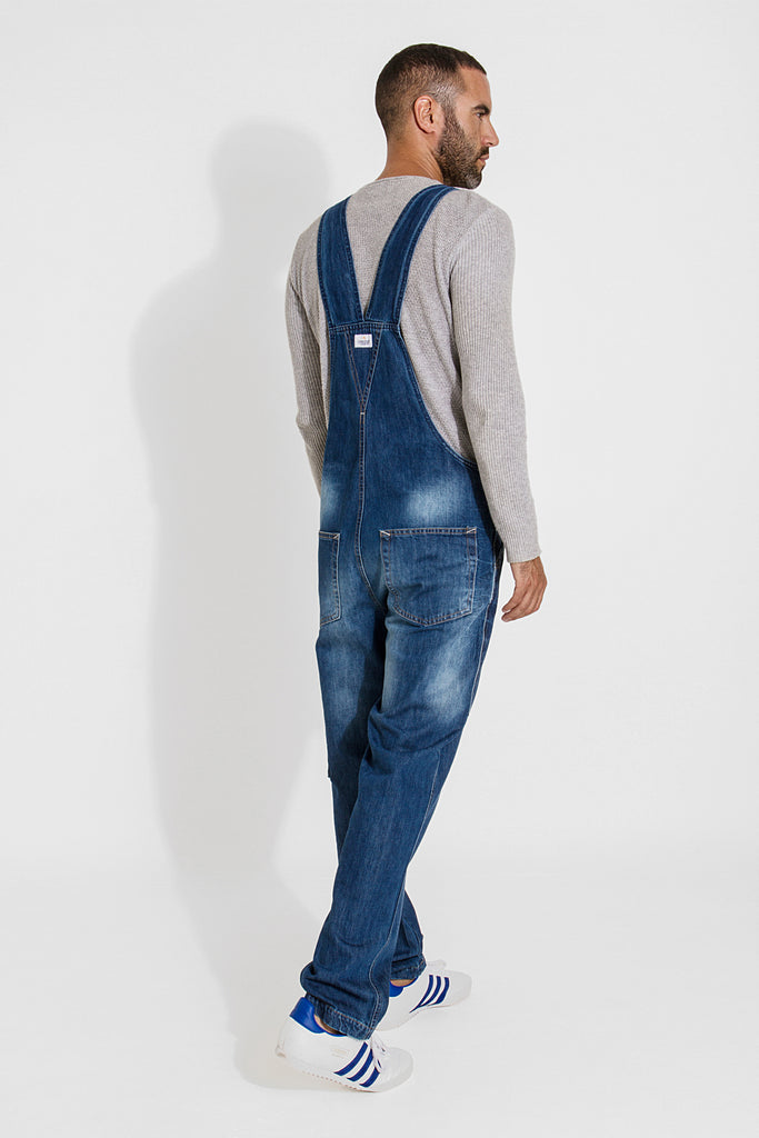 Christopher Latzhose, Denim Loose Fit Stonewash - latzhosen-online