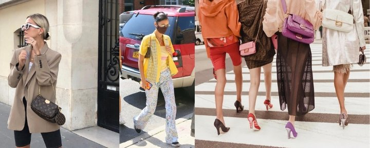 Favorite bags of celebrities and outfits