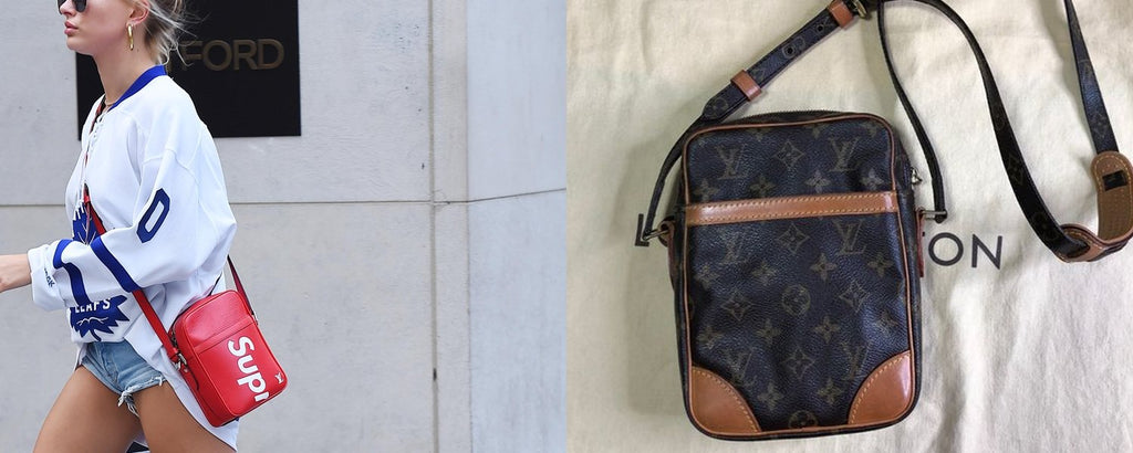 Louis Vuitton x Supreme Danube in Epi red leather and Louis Vuitton Danube Monogram canvas