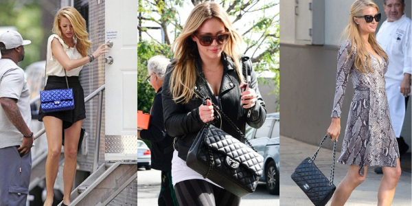 Blake Lively, Hillary Duff και Paris Hilton με το Chanel Classic Flap bag 2.55