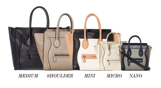 The different sizes of a Céline Tote Bag