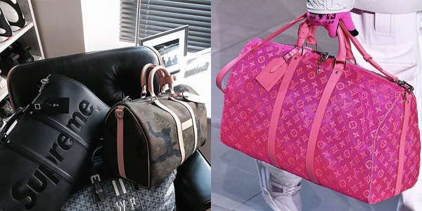 Louis Vuitton Keepalls in limited editions wie die Jungle Edition oder Pink Mesh oder die Zusammenarbeit mit Supreme.
