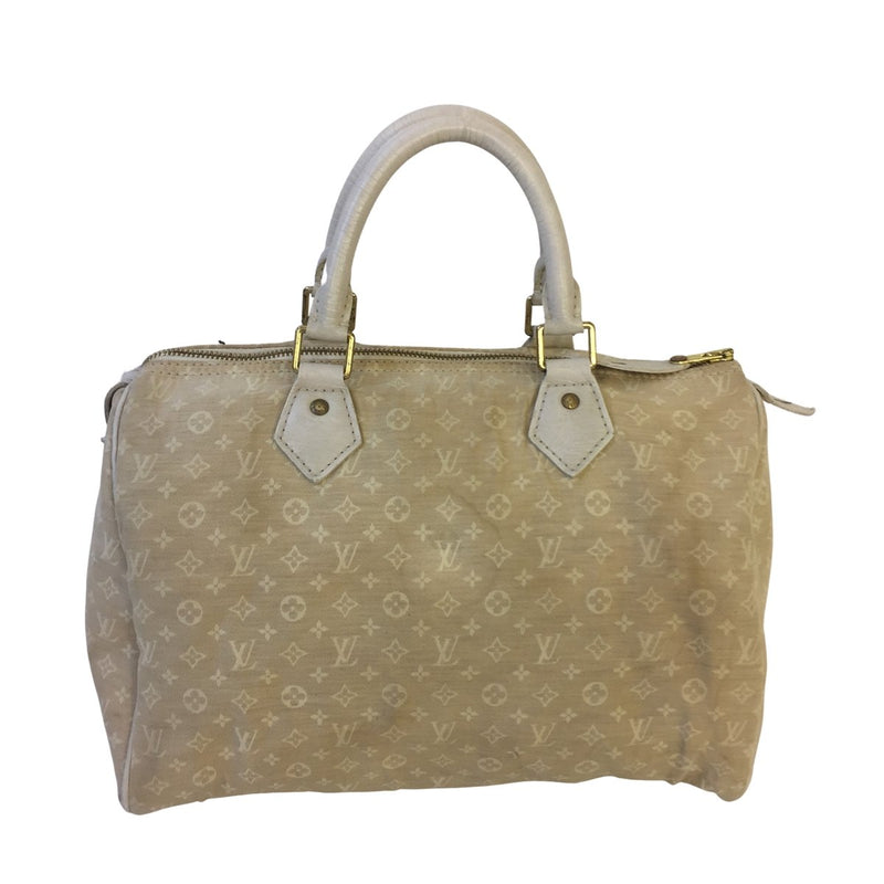 Louis Vuitton Louis Vuitton Speedy 30 Dune Monogram Mini Lin - Handbags - Etoile Luxury Vintage