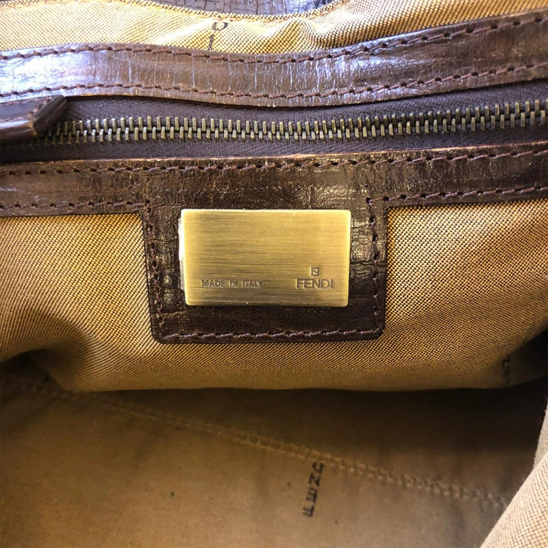 Fendi Fendi Chef Du Jour Star brown Zucca Canvas - Handbags - Etoile Luxury Vintage