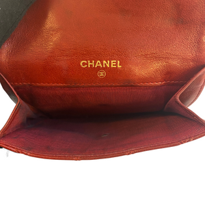 Chanel Chanel Quilted Flap Wallet Compact Coin Purse Quilted Lambskin Leather - Lommebøker - Etoile Luxury Vintage