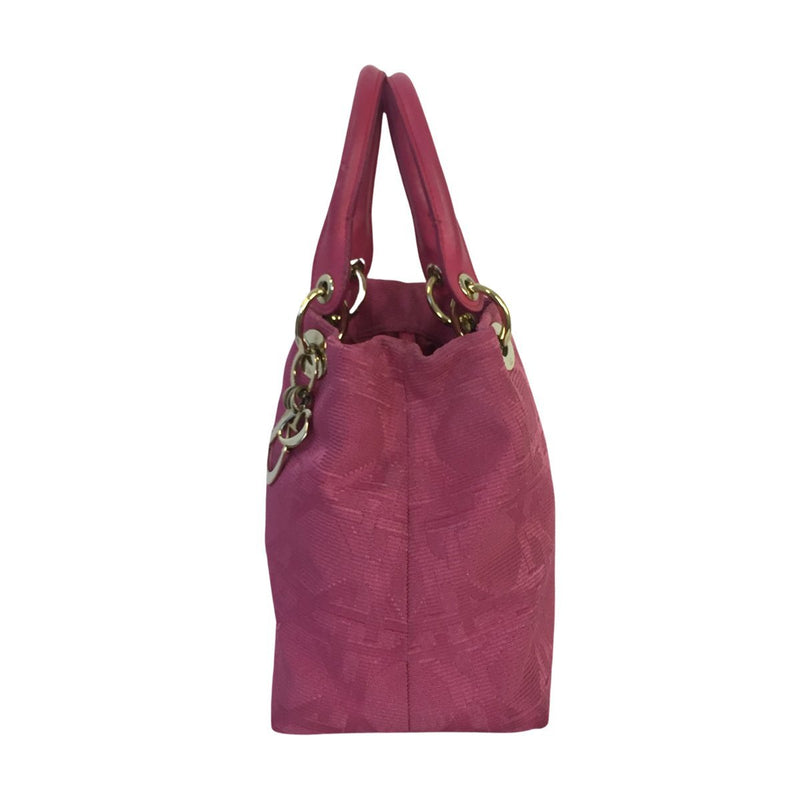 Dior Dior Lady Dior Medium Soft Tote pink Cannage Canvas - Handbags - Etoile Luxury Vintage
