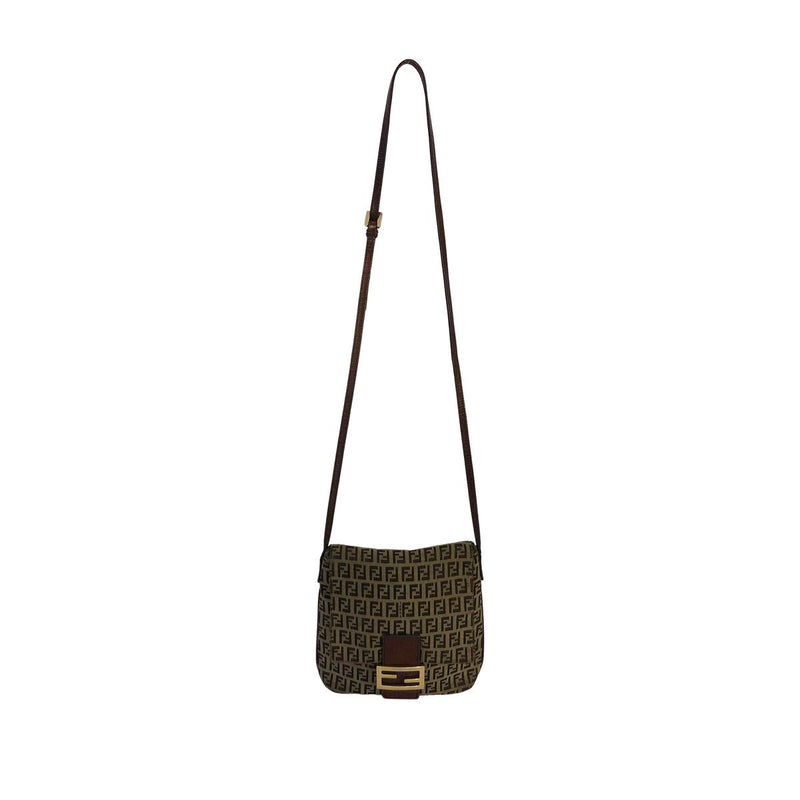 Fendi Fendi Crossbody Bag brown Zucchino Cloth - Crossbody bags - Etoile Luxury Vintage