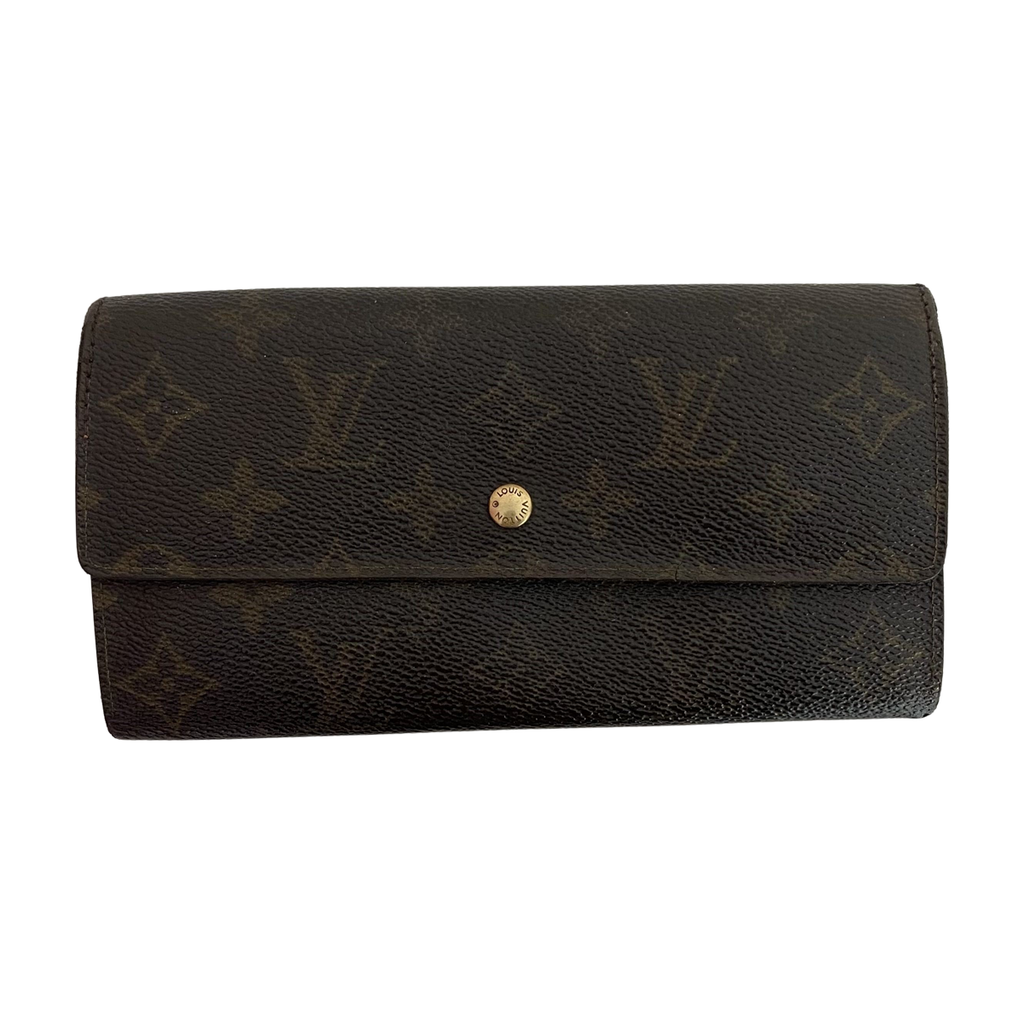 Louis Vuitton Louis Vuitton Porte Tresor Long Sarah Wallet Monogram Canvas - Wallets - Etoile Luxury Vintage