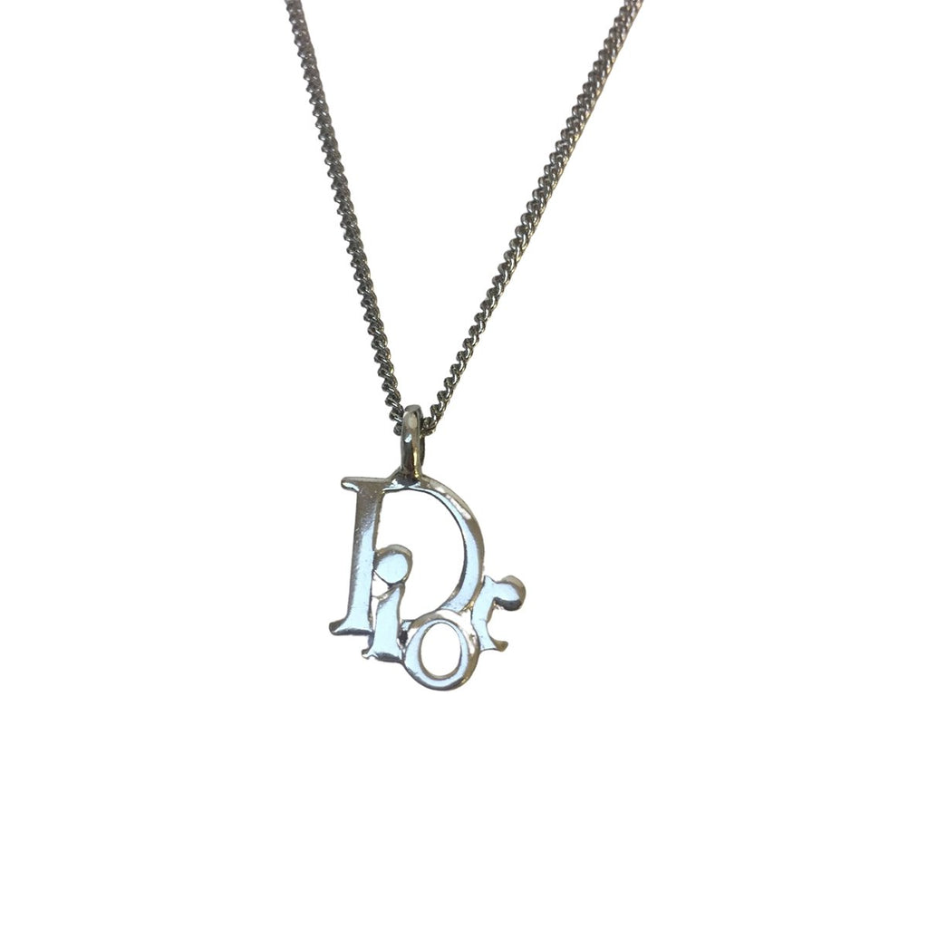 Dior Dior Logo Necklace Silver - Jewelry - Etoile Luxury Vintage
