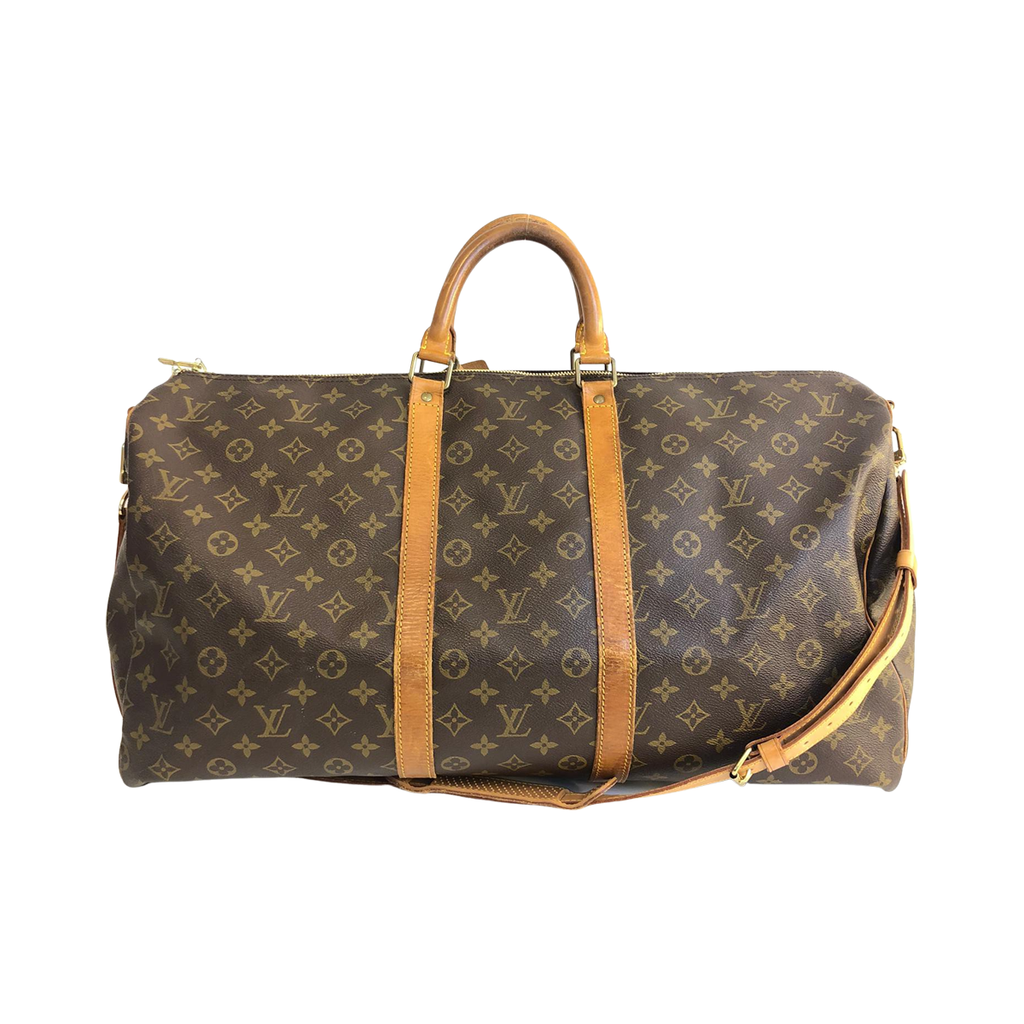 Louis Vuitton Louis Vuitton Keepall 55 Monogram Canvas with Bandoulière shoulder strap - Travel bags - Etoile Luxury Vintage