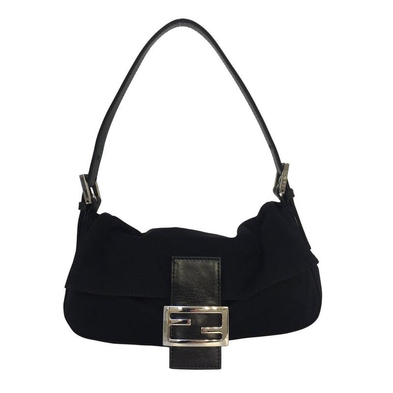 Fendi Fendi Baguette black Cloth - Shoulder bags - Etoile Luxury Vintage