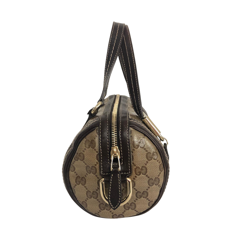 Gucci Gucci Crystal Duchessa Charm Small brown Coated Canvas - Handbags - Etoile Luxury Vintage