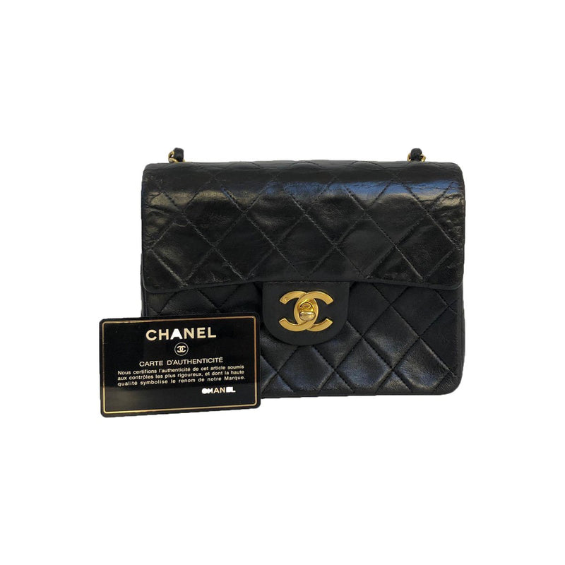Chanel Chanel Mini Square Flap Bag Lambskin Leather - Crossbody bags - Etoile Luxury Vintage
