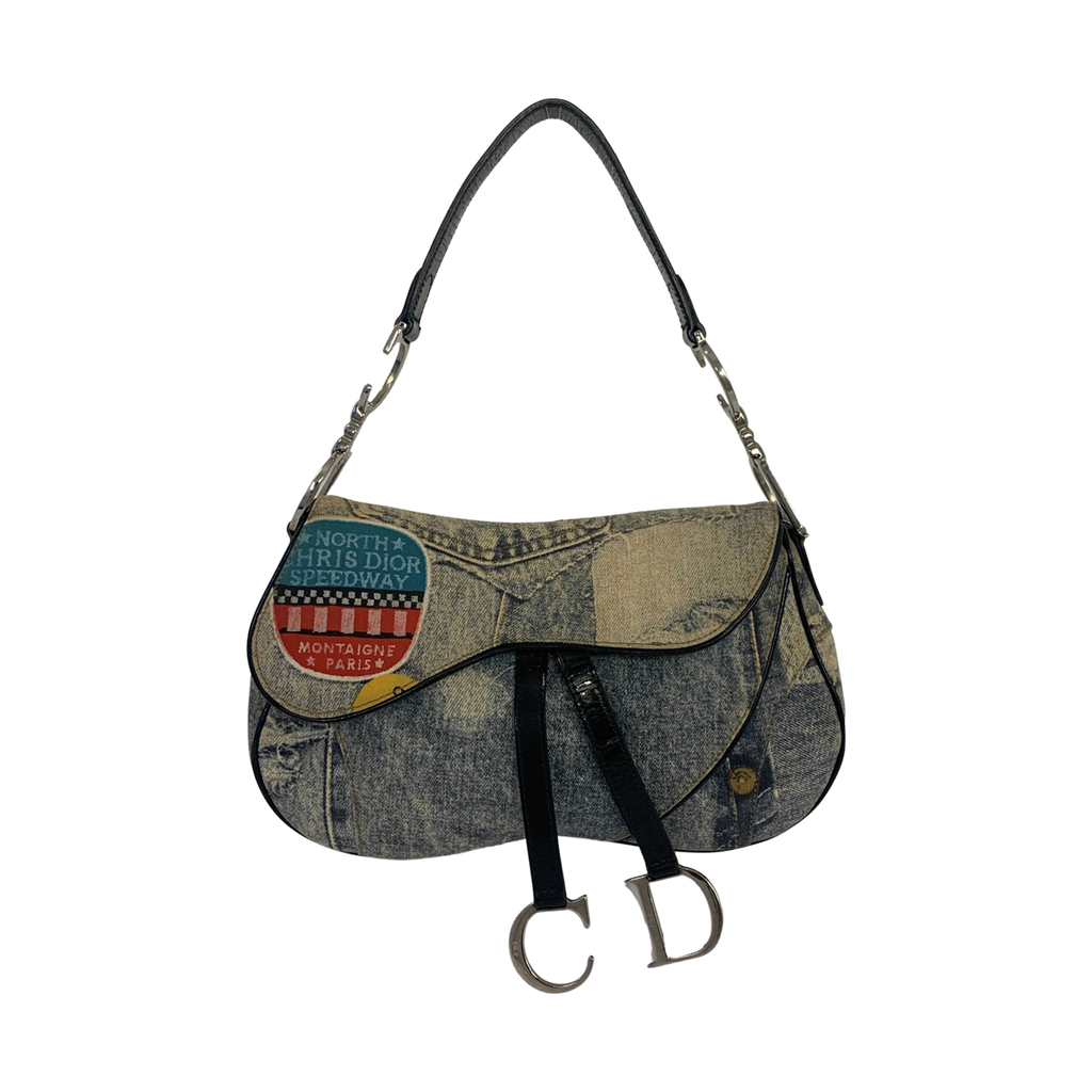 Dior Dior Speedway Saddle Bag Denim - Shoulder bags - Etoile Luxury Vintage