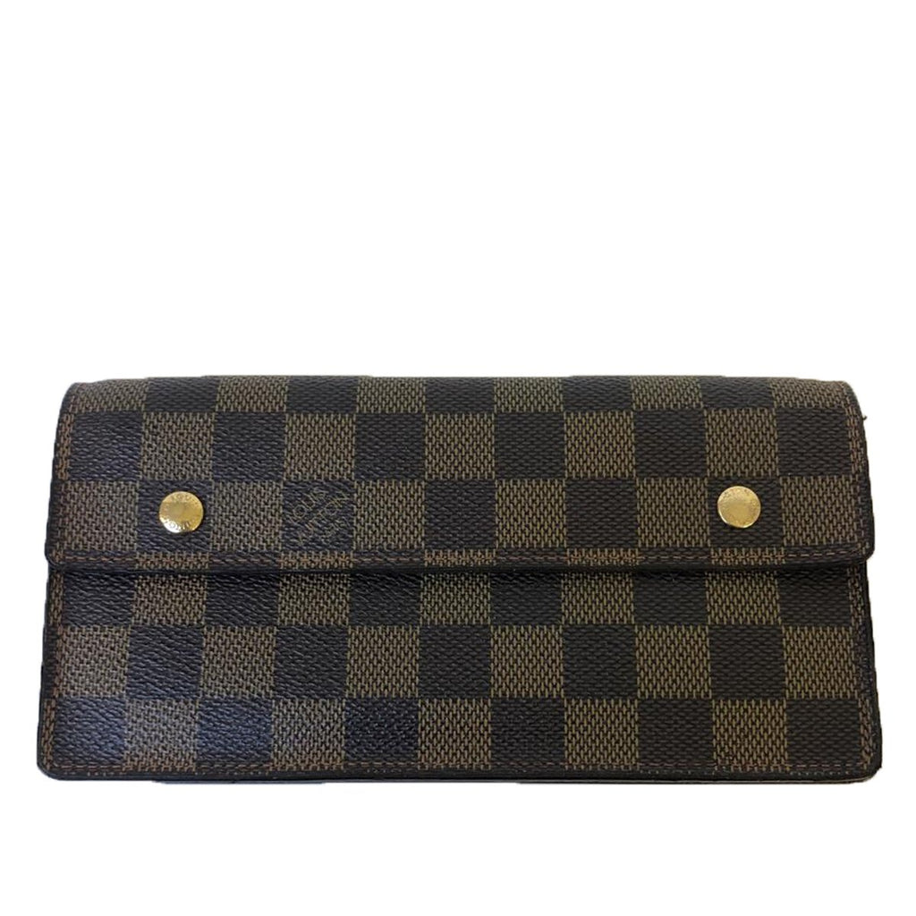 Louis Vuitton Louis Vuitton Accordion Wallet Damier Ebene Canvas - Wallets - Etoile Luxury Vintage