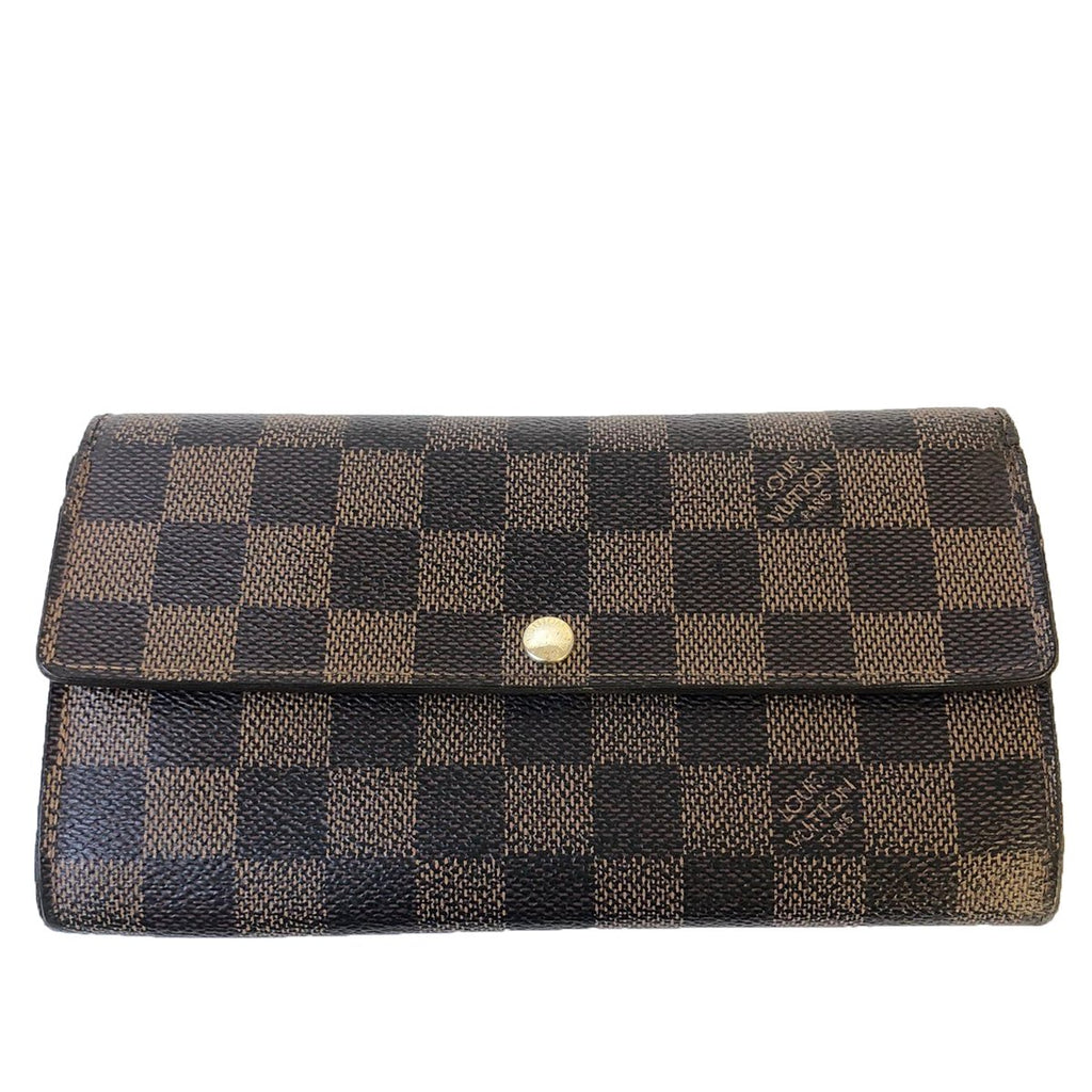 Louis Vuitton Louis Vuitton Sarah Long Wallet Damier Ebene Canvas - Wallets - Etoile Luxury Vintage