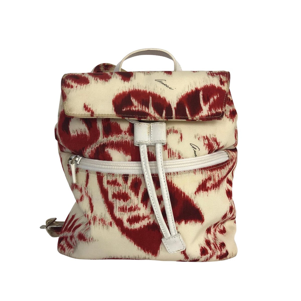 Gucci Gucci Backpack red and white floral Canvas - Backpacks - Etoile Luxury Vintage