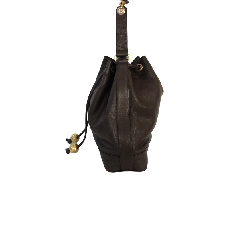 Chanel Chanel Drawstring Bucket Bag brown Lambskin Leather - Shoulder bags - Etoile Luxury Vintage