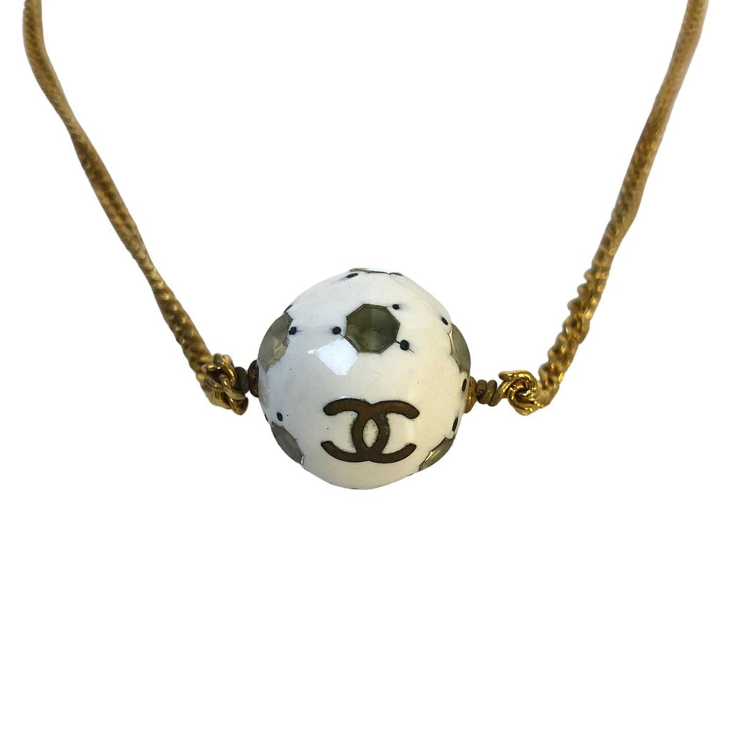 Chanel Chanel Logo Necklace Gold Plated - Jewelry - Etoile Luxury Vintage