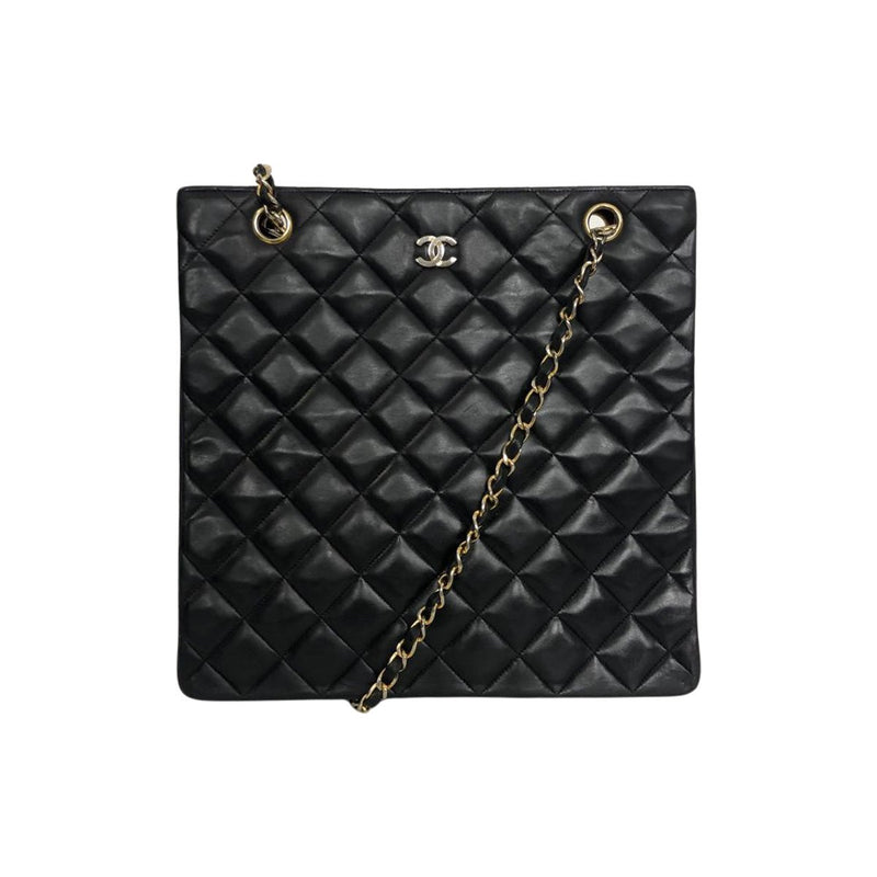 Chanel Chanel Crossbody Tote Bag black Lambskin Leather - Crossbody bags - Etoile Luxury Vintage