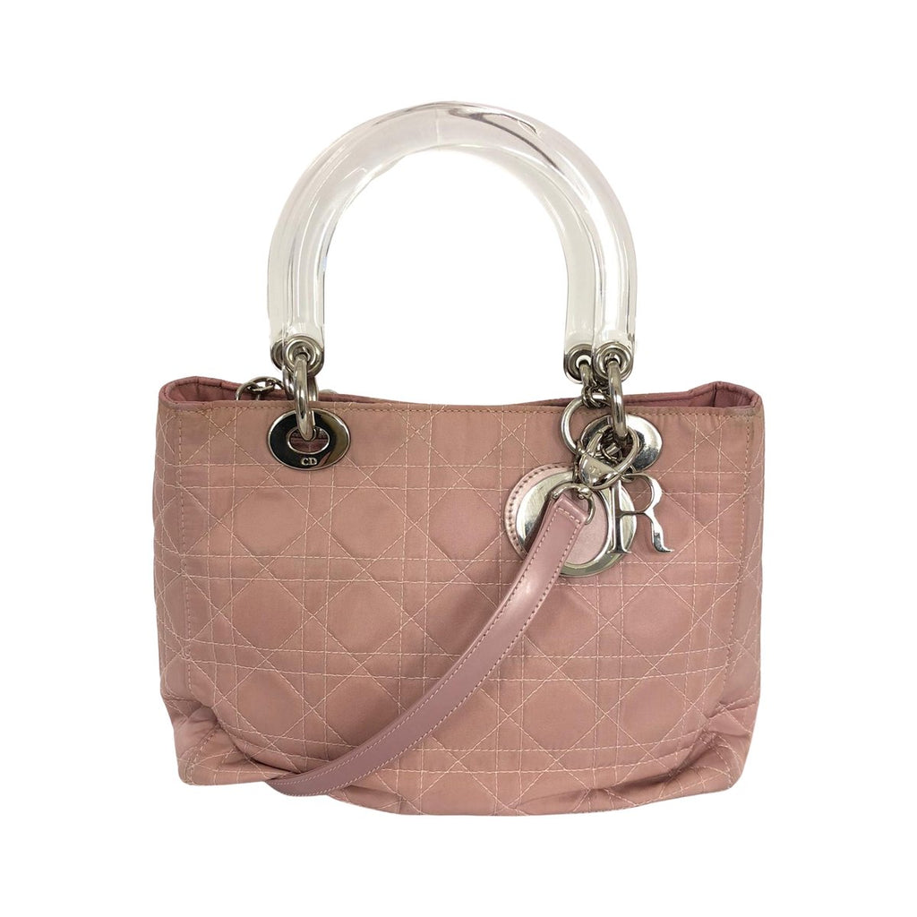 Dior Dior Lady Dior Medium pink Nylon Cannage - Handbags - Etoile Luxury Vintage