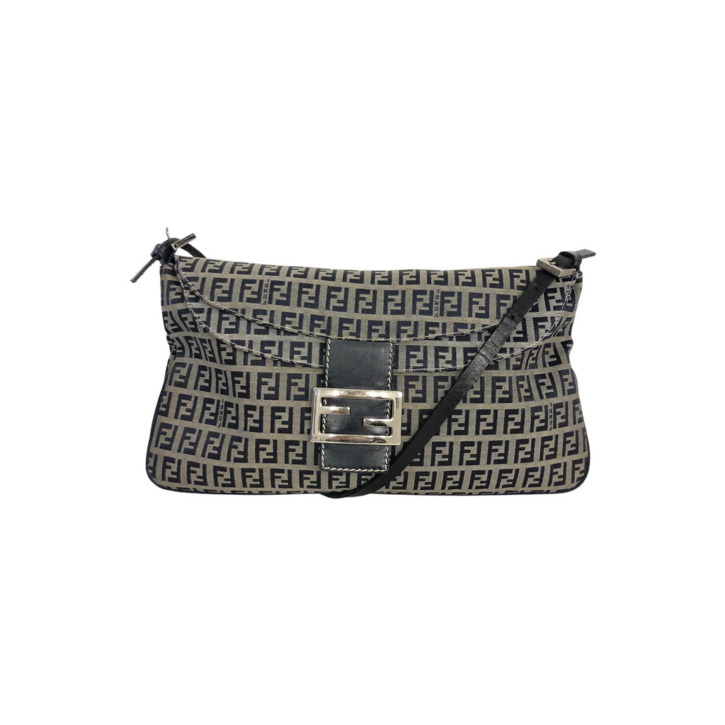 Fendi Fendi Crossbody Bag blue Zucchino Canvas - Crossbody bags - Etoile Luxury Vintage