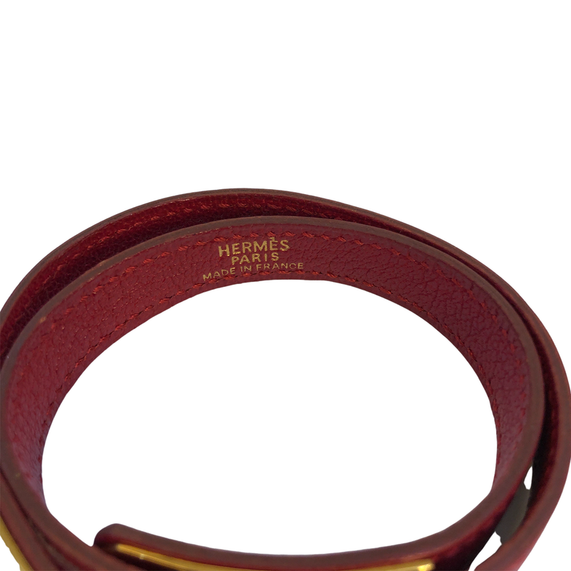 Hermès Hermès Kelly Double Tour Bracelet Caviar Leather - Jewelry - Etoile Luxury Vintage