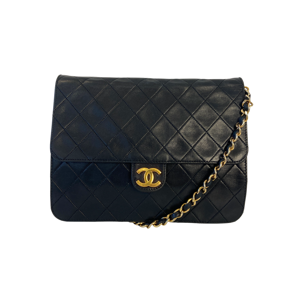 Chanel Shoulder Bag Quilted Lambskin Leather