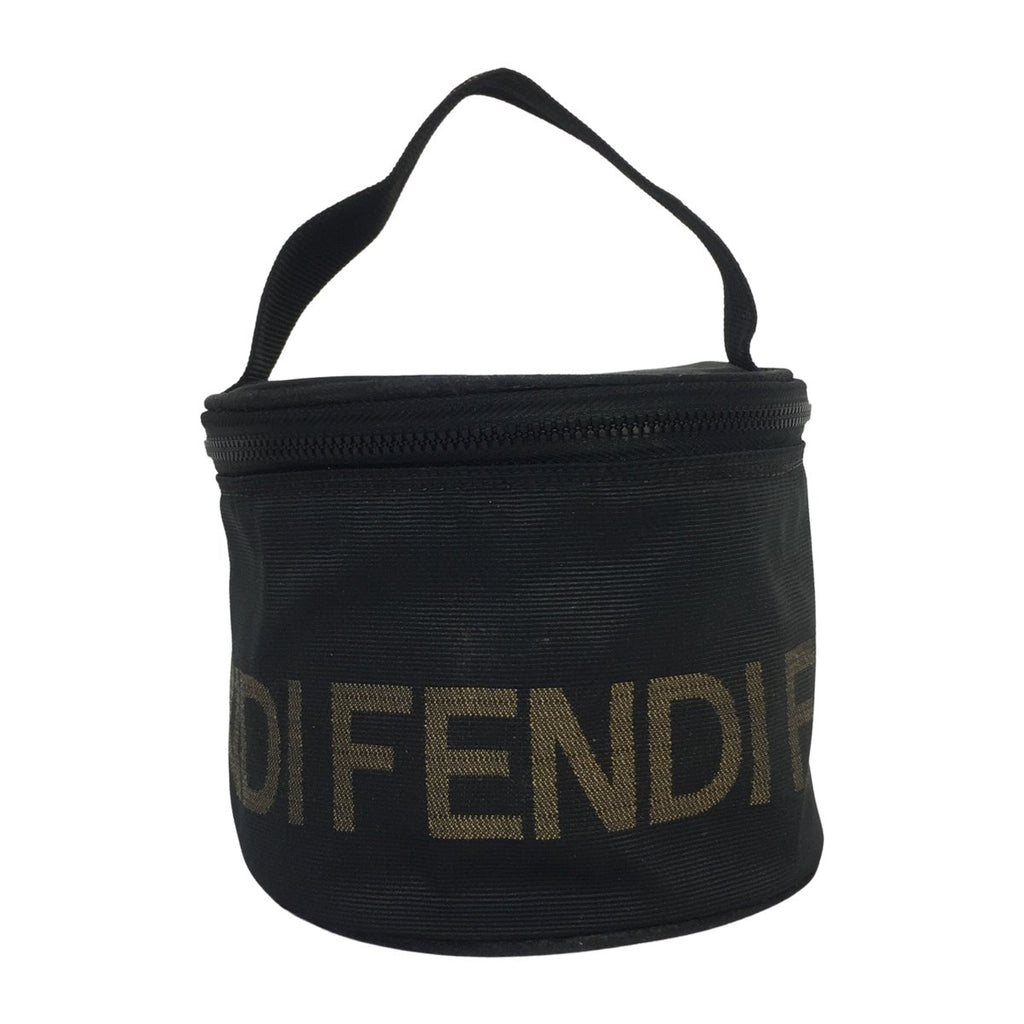 Fendi Fendi 1925 Roma Round Vanity Case brown Coated Canvas - Toiletry bags - Etoile Luxury Vintage