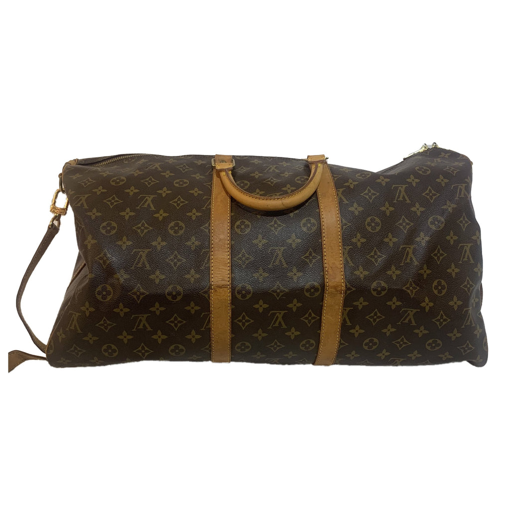 Louis Vuitton Keepall 55 με λουράκι Bandouli & egrave; re - ώμοι ταξιδιού - l '& Eacute; toile de Saint Honor & eacute;