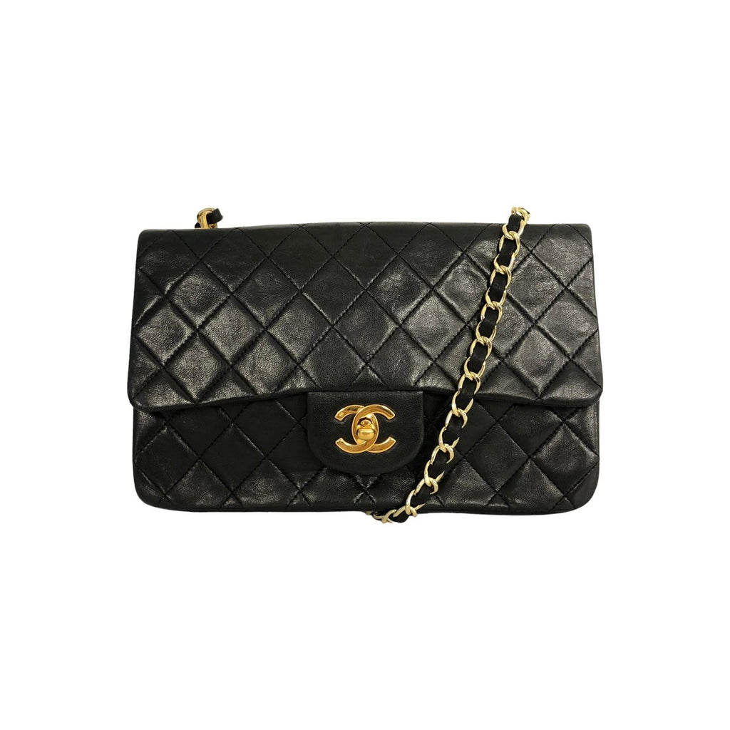 Chanel Chanel Classic Flap Bag Small Lambskin Leather - Shoulder bags - Etoile Luxury Vintage