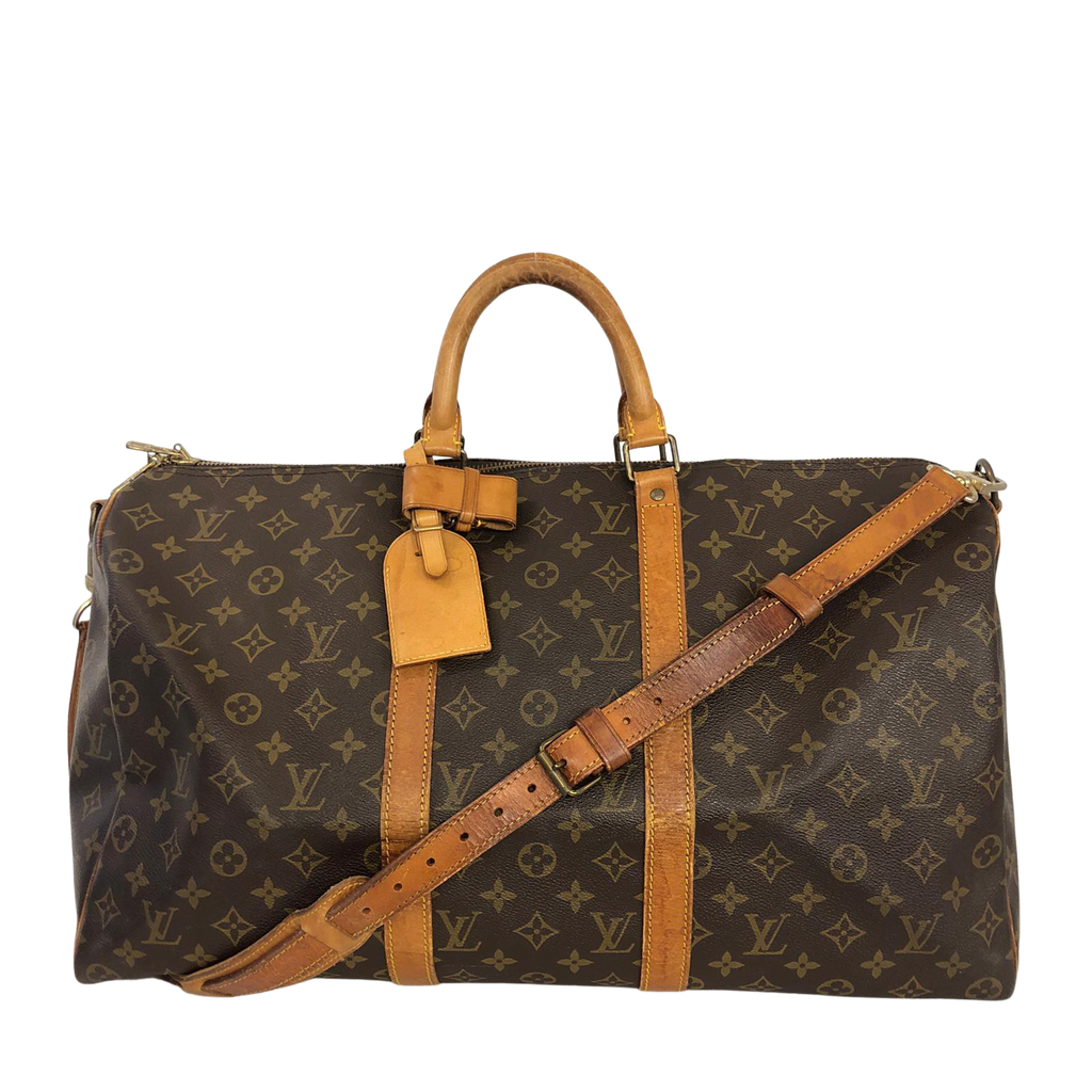 Louis Vuitton Keepall 50 with Bandoulière strap Monogram Canvas