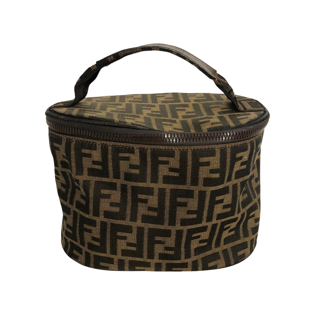 Fendi Fendi Beauty case brown Zucca Canvas - Toiletry bags - Etoile Luxury Vintage
