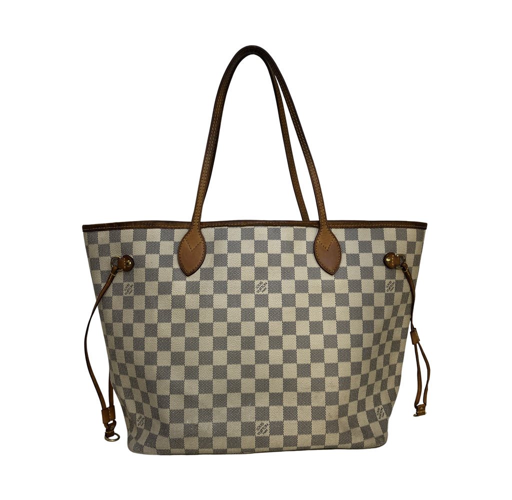 Louis Vuitton Neverfull Damier Azur MM Damier Azur Canvas - Shoulder bags - Etoile Luxury Vintage