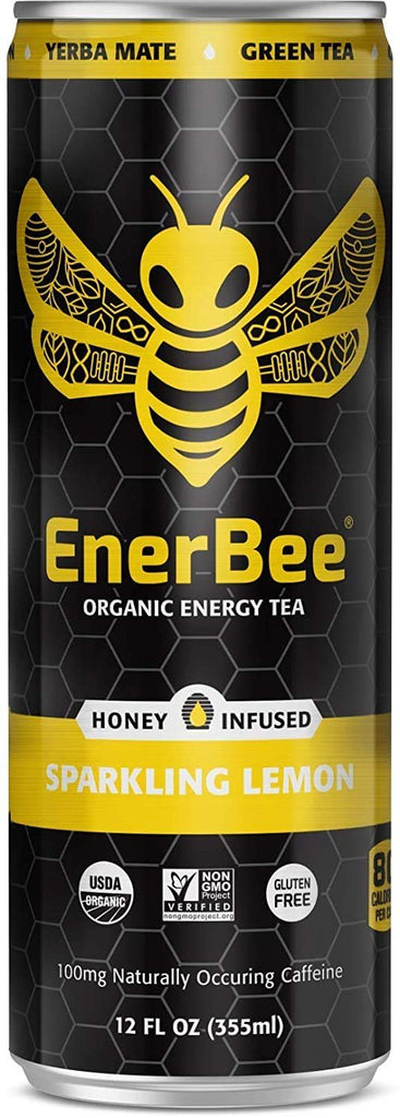 EnerBee Energy Tea Sparkling Lemon 24 Pack
