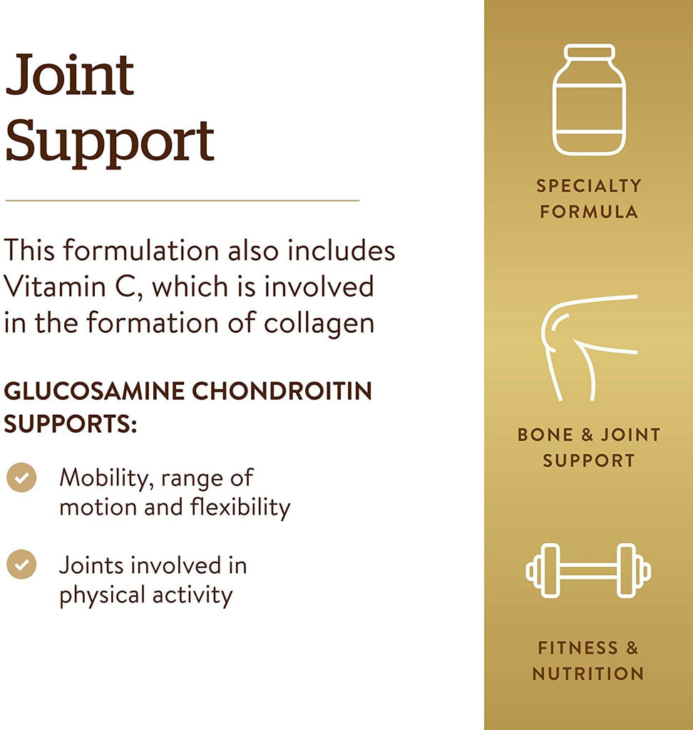 Solgar, Extra Strength Glucosamine Chondroitin Complex 300 Tablets