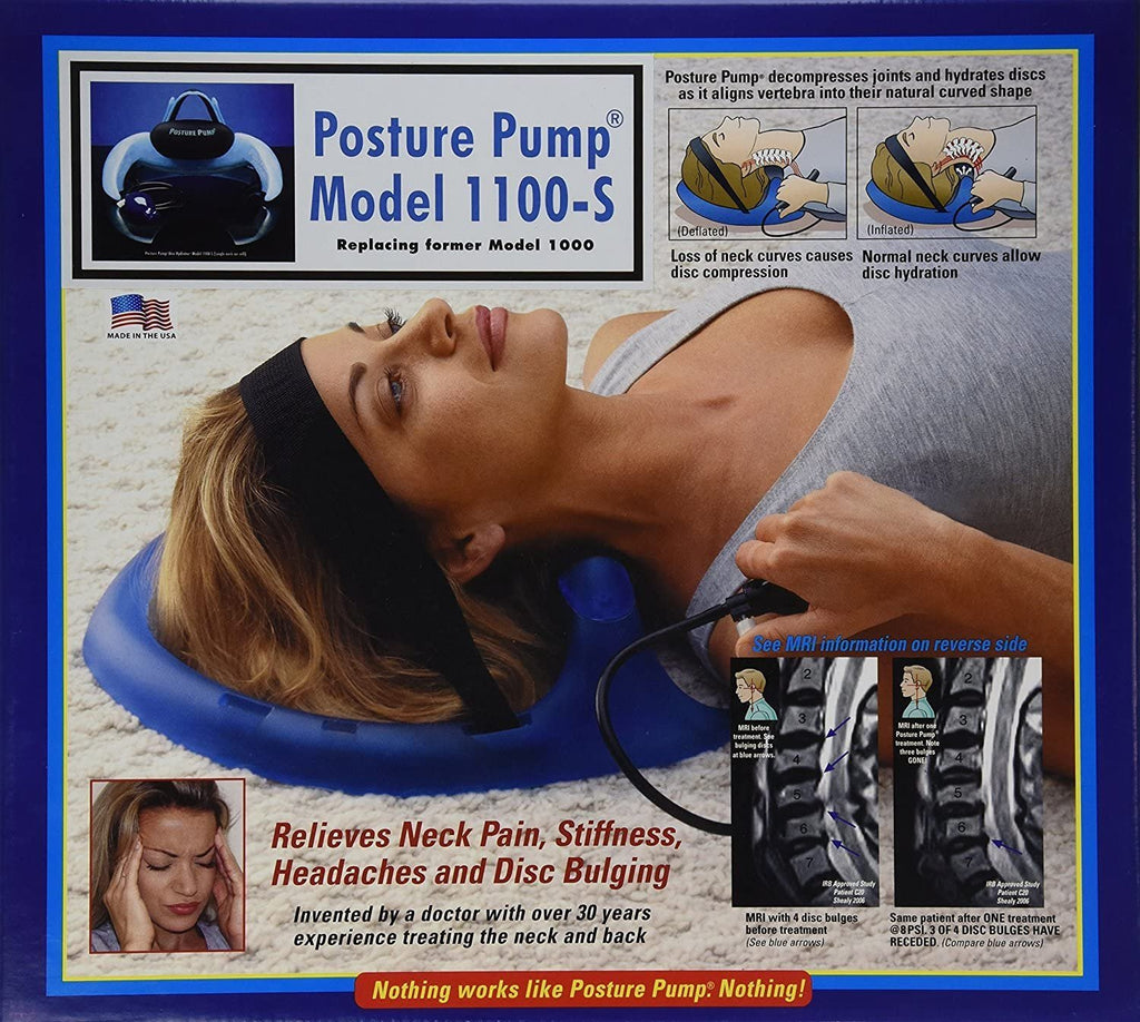 POSTURE PUMP Neck Pain Relief Cervical DISC HYDRATOR (Model 1100-S)* *Single neck air cell