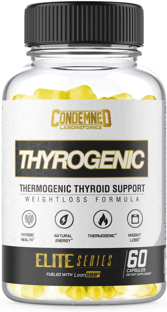 Condemned Labz Thyrogenic Thermogenic Thyroid Support Fat Burner 60 Caps