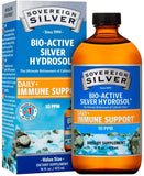 Sovereign Silver Bio-Active Silver Hydrosol for Immune Support - Colloidal Silver - 10 ppm, 16oz (473mL) - Economy Size