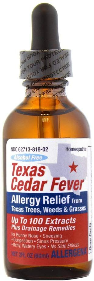 PROGENA Texas Cedar Fever Allergy Releif, 2 FZ
