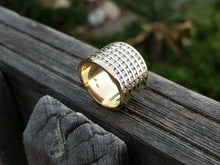 Load image into Gallery viewer, BEAUTIFUL WIDE DIAMOND BAND RING....WHAT A STATEMENT!
