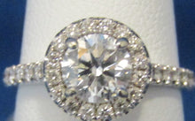 Load image into Gallery viewer, 14KT ROUND DIAMOND HALO DESIGNED SOLITAIRE RING.  .80CT CENTER...GREAT STONE!