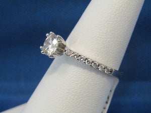 CLASSIC ROUND DIAMOND SOLITAIRE RING .76CTS  AMAZING VALUE!