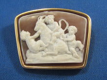 Load image into Gallery viewer, UNUSUAL SHAPE 14KT VINTAGE CARVED STONE CAMEO