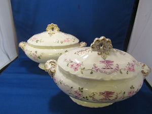 PAIR OF VEGETABLE BOWLS BY T. GOODE & CO. LONDON....SO VINTAGE