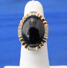 Load image into Gallery viewer, Vintage 14kt Yellow Gold Onyx Diamond Ring...Classic and Tastefull