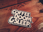 Coffee, Doom & Sleep - Sticker - mangobeard