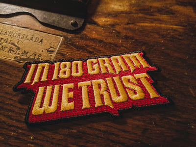In 180 Gram We Trust - Patch - mangobeard